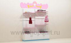 Мебель для детского магазина пристенный стеллаж торговое оборудование ПРИНЦЕСС
