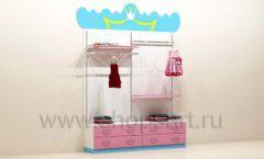 Мебель для детского магазина пристенный стеллаж с накопителями и ящиками торговое оборудование ПРИНЦЕСС