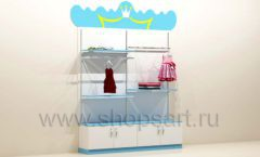 Мебель для детского магазина пристенный стеллаж с полками торговое оборудование ПРИНЦЕСС