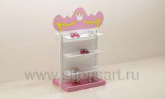 Мебель для детского магазина торговая стойка с полками торговое оборудование ПРИНЦЕСС