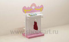 Мебель для детского магазина торговая стойка с навеской торговое оборудование ПРИНЦЕСС