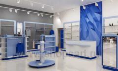 Дизайн интерьера магазина одежды торговое оборудование ГОЛУБАЯ ЛАГУНА Дизайн 01