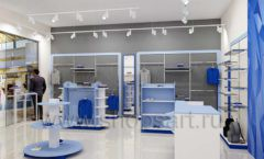 Дизайн интерьера магазина одежды торговое оборудование ГОЛУБАЯ ЛАГУНА Дизайн 03