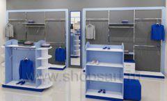 Дизайн интерьера магазина одежды торговое оборудование ГОЛУБАЯ ЛАГУНА Дизайн 06