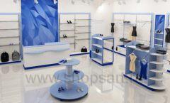 Дизайн интерьера магазина одежды торговое оборудование ГОЛУБАЯ ЛАГУНА Дизайн 07
