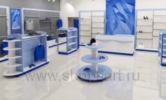 Дизайн интерьера магазина одежды торговое оборудование ГОЛУБАЯ ЛАГУНА Дизайн 09