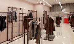 Дизайн интерьера магазина шуб Ягуар торговое оборудование КЛАССИЧЕСКИЙ ЛОФТ Дизайн 1