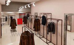 Дизайн интерьера магазина шуб Ягуар торговое оборудование КЛАССИЧЕСКИЙ ЛОФТ Дизайн 3