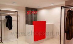 Дизайн интерьера магазина шуб Ягуар торговое оборудование КЛАССИЧЕСКИЙ ЛОФТ Дизайн 4