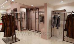 Дизайн интерьера магазина шуб Ягуар торговое оборудование КЛАССИЧЕСКИЙ ЛОФТ Дизайн 6