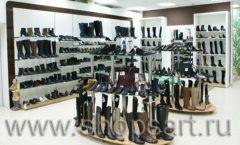 Торговое оборудование магазина обуви Банана Шуз этаж 2 ГЛАМУР Фото 01