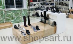Торговое оборудование магазина обуви Банана Шуз этаж 2 ГЛАМУР Фото 08