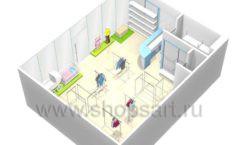 Дизайн интерьера детского магазина Ивбеби Москва коллекция РАДУГА Дизайн 7