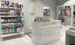 Торговое оборудование детского магазина Dear Baby Москва ТРЦ Ривьера БЕЛАЯ КЛАССИКА Фото 05