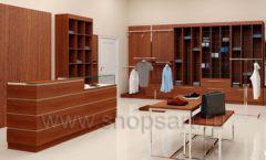 Дизайн интерьера магазина мужской одежды торговое оборудование МУЖСКОЙ СТИЛЬ Дизайн 01