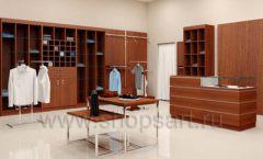 Дизайн интерьера магазина мужской одежды торговое оборудование МУЖСКОЙ СТИЛЬ Дизайн 02