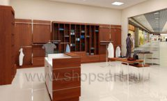 Дизайн интерьера магазина мужской одежды торговое оборудование МУЖСКОЙ СТИЛЬ Дизайн 04