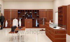 Дизайн интерьера магазина мужской одежды торговое оборудование МУЖСКОЙ СТИЛЬ Дизайн 05