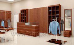 Дизайн интерьера магазина мужской одежды торговое оборудование МУЖСКОЙ СТИЛЬ Дизайн 09