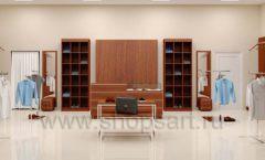 Дизайн интерьера магазина мужской одежды торговое оборудование МУЖСКОЙ СТИЛЬ Дизайн 11