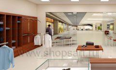 Дизайн интерьера магазина мужской одежды торговое оборудование МУЖСКОЙ СТИЛЬ Дизайн 13