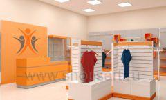 Дизайн интерьера магазина спортивной одежды торговое оборудование АТЛАНТ Дизайн 01