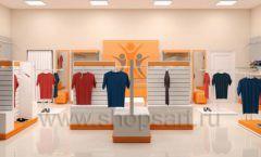Дизайн интерьера магазина спортивной одежды торговое оборудование АТЛАНТ Дизайн 02