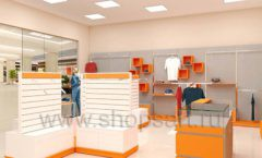 Дизайн интерьера магазина спортивной одежды торговое оборудование АТЛАНТ Дизайн 03