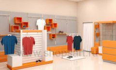 Дизайн интерьера магазина спортивной одежды торговое оборудование АТЛАНТ Дизайн 04
