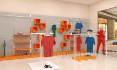 Дизайн интерьера магазина спортивной одежды торговое оборудование АТЛАНТ Дизайн 05