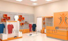Дизайн интерьера магазина спортивной одежды торговое оборудование АТЛАНТ Дизайн 06