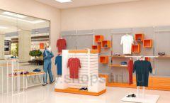 Дизайн интерьера магазина спортивной одежды торговое оборудование АТЛАНТ Дизайн 07