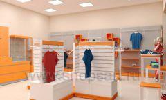 Дизайн интерьера магазина спортивной одежды торговое оборудование АТЛАНТ Дизайн 08