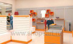 Дизайн интерьера магазина спортивной одежды торговое оборудование АТЛАНТ Дизайн 09
