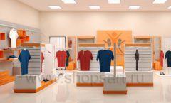 Дизайн интерьера магазина спортивной одежды торговое оборудование АТЛАНТ Дизайн 10