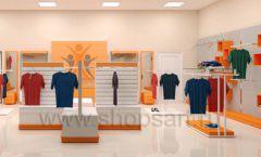Дизайн интерьера магазина спортивной одежды торговое оборудование АТЛАНТ Дизайн 12