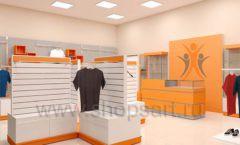 Дизайн интерьера магазина спортивной одежды торговое оборудование АТЛАНТ Дизайн 13