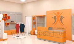 Дизайн интерьера магазина спортивной одежды торговое оборудование АТЛАНТ Дизайн 14