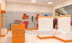 Дизайн интерьера магазина спортивной одежды торговое оборудование АТЛАНТ Дизайн 15