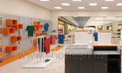 Дизайн интерьера магазина спортивной одежды торговое оборудование АТЛАНТ Дизайн 16