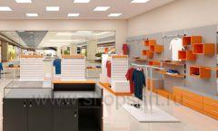 Дизайн интерьера магазина спортивной одежды торговое оборудование АТЛАНТ Дизайн 18