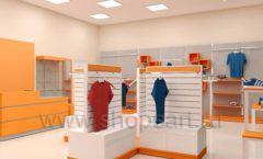 Дизайн интерьера магазина спортивной одежды торговое оборудование АТЛАНТ Дизайн 20