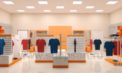 Дизайн интерьера магазина спортивной одежды торговое оборудование АТЛАНТ Дизайн 21