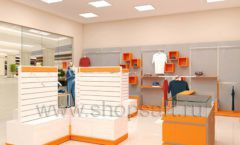 Дизайн интерьера магазина спортивной одежды торговое оборудование АТЛАНТ Дизайн 22