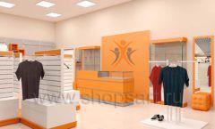 Дизайн интерьера магазина спортивной одежды торговое оборудование АТЛАНТ Дизайн 23