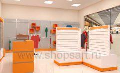 Дизайн интерьера магазина спортивной одежды торговое оборудование АТЛАНТ Дизайн 24