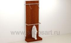 Пристенный стеллаж с подиумом торговое оборудование МУЖСКОЙ СТИЛЬ