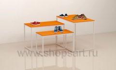 Столы для магазина одежды комплект торговое оборудование АТЛАНТ