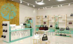 Дизайн интерьера магазина сумок торговое оборудование ТИФФАНИ Дизайн 01