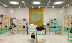 Дизайн интерьера магазина сумок торговое оборудование ТИФФАНИ Дизайн 02